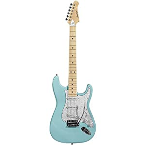 sawtooth st es dblp daphne blue electric guitar with pearl white pickguard musical. Black Bedroom Furniture Sets. Home Design Ideas