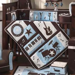 Rock 'N Roll Baby Crib Bedding Set by Lambs & Ivy