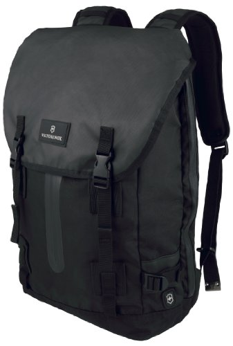 Victorinox Luggage Altmont 3.0 Flapover Drawstring Laptop Backpack, Black, One Size