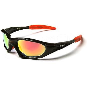 X-Loop Lunettes de Soleil - Sport - Cyclisme - Ski - Conduite - Moto / Mod. 1002 Noir Orange Spectrum Iridium / Taille Unique Adulte / Protection 100% UV400