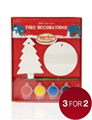 Decorate Your Own Ceramic Christmas Tree Decorations