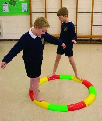 Neuf Pour Enfants Jeu Amusant Intérieur/Extérieur activité D'équilibre Trackway moitié Tubes Ensemble De 12