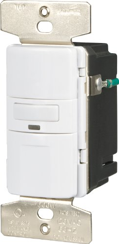 Cooper Wiring Devices OS310U-W-K Motion-Activated Occupancy Sensor Wall Switch, White