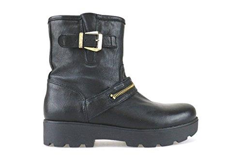 scarpe donna KEYS stivaletti tronchetti nero pelle AJ144 (38 EU)