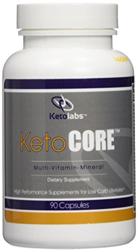 Ketolabs Keto Core Daily Multivitamin with Minerals and Probiotics - Supplement Designed for Men and Women on Low Carb, Atkins, Paleo, Ketogenic (Keto) and Other Weight-Loss Diets - 90 Capsules - 100% Money Back Guarantee.