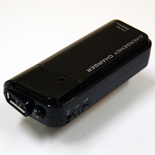 単三電池2本でUSB出力ができるバッテリ充電器