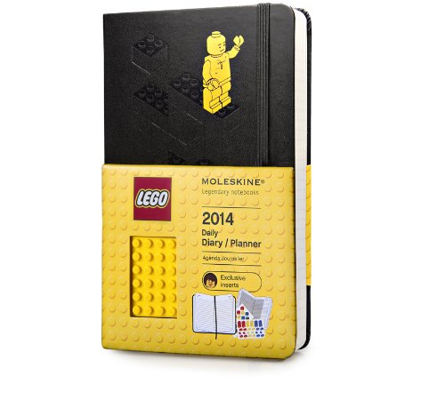 Moleskine 2014 LEGO Limited Edition Daily Planner, 12 Month, Large, Black, Hard Cover (5 x 8.25) (Planners & Datebooks)