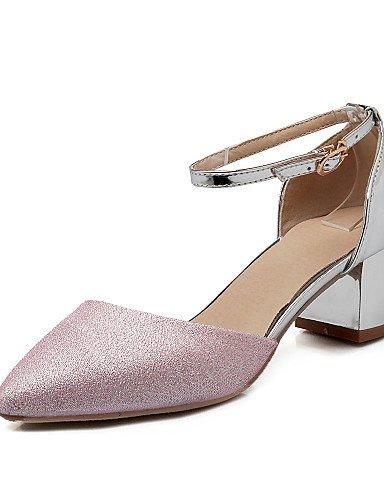 zapatos-de-mujer-tacon-robusto-tacones-tacones-casual-semicuero-rosa-plata-oro-silver-us85-eu39-uk65