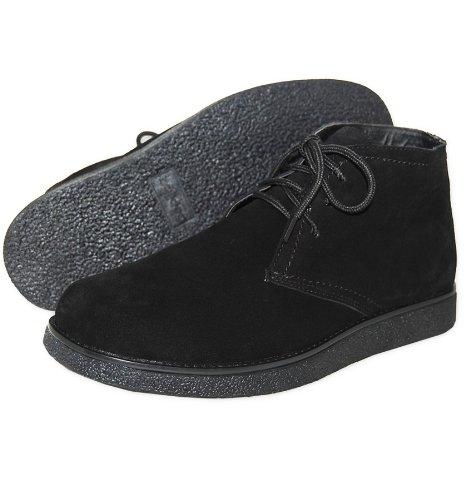 Genuine Leather Upper Men's Desert Boot, Black