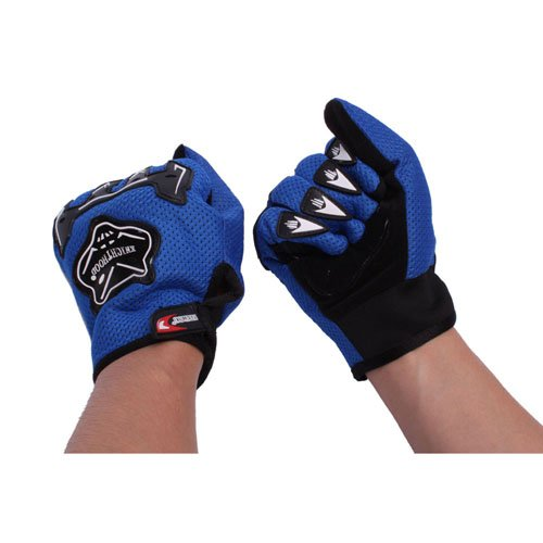 Fox Label Motorcycle Racing Protective Gloves Blue
