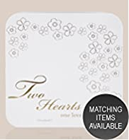 Two Hearts One Love Collection Wedding Guest Book with Matching Keepsake Box
