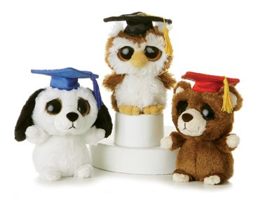 Dreamy Eyes Graduation Brown Bear 5″ by Aurora
