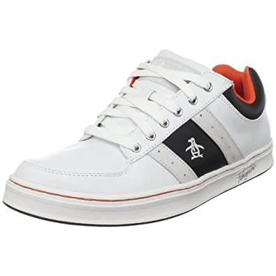 Original Penguin Men's Jingle Sneaker,White/Black/Mandarin,8.5 M US