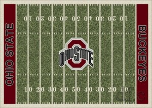 Amazon Com Ohio State Buckeyes Home Field Rug Ohio State