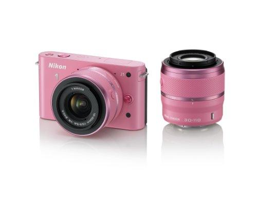 Nikon デジタル一眼カメラ Nikon 1 (ニコンワン) J1 (ジェイワン) ダブルズームキット ピンクスペシャルキットN1 J1WZ PK