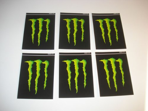 6 Monster Energy Drink M Claw 4x3 Decals Stickers
