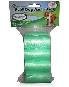 Cross Peak Poop Bags for Dogs, Green, Scented Refills, 8-Roll