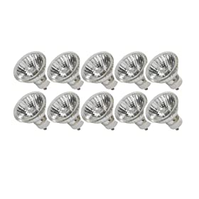 eTopLighting (10) Bulbs, GU10 Halogen Bulb 120V 50W GU10 Halogen Light Bulb, 120 Volt 50 Watt GU10 Halogen Bulb Lamp