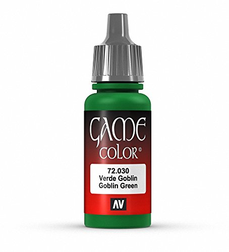 Vallejo Game Color Goblin Green Paint, 17ml