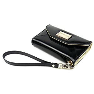 JAVOedge Wallet Case for the iPhone 4S, iPhone 4 (Black) - Latest Generation