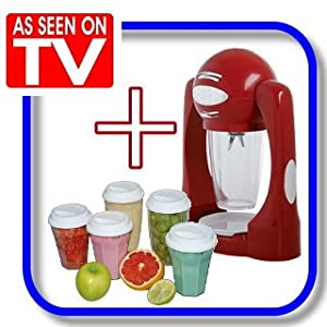 16tlg smoothie maker mega set in rot das original set aus der tv werbung smoothiemaker. Black Bedroom Furniture Sets. Home Design Ideas