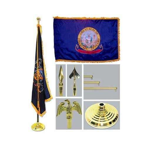 Idaho 4Ft X 6Ft Flag Telescoping Flagpole Base And Tassel