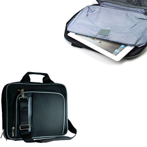 VanGoddy Accessories Granite Black & Gray Pinn Tablet Bag for the Samsung Galaxy Note 10.1 + VanGoddy LIVE * LAUGH * LOVE Wristband