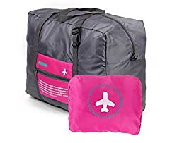 PackNBUY PINK Foldable Big Carry On Luggage packing Travel Gym Bag