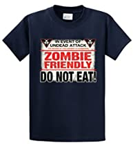ZOMBIE FRIENDLY Printed Tee Shirt