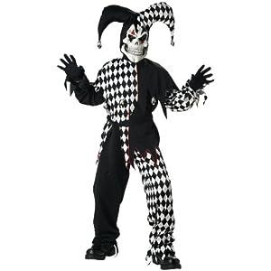 Evil Jester Child Costume L
