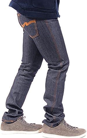 (ヌーディージーンズ) Nudie Jeans Co SLIM JIM/スリムジム デニムパンツ リジッド/リジット 生 ドライデニム スキニージーンズ モデル メンズ DRY BROKEN TWILL 41161-1011 COL.006 34 navy