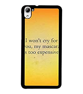 PrintDhaba Quote D-4407 Back Case Cover for HTC DESIRE 826 (Multi-Coloured)