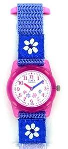 Timex Youth T75031 - Reloj para niñas de cuarzo, correa de textil color morado (con luz)