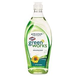 Green Works Naturally Derived Dishwashing Liquid, Original, 22oz Bottle - 12 bottles of dishwashing liquid.