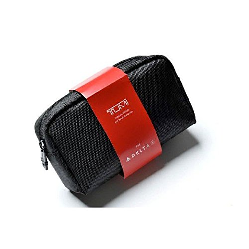 TUMI トラベルポーチ ブラック DELTAエア コラボレーショントゥミ ツミ トラベルキット ビジネス バッグ スーツケース  [並行輸入品]