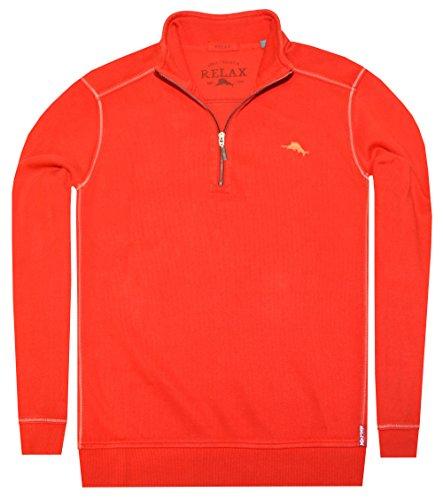 Tommy Bahama Men Relax Antigua Half Zip Sweatshirt (M, Red)
