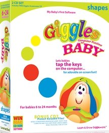 Giggles Computer Funtime For Baby - Shapes (Win/Mac)