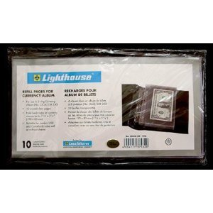 Lighthouse-Educational-Products-10-Pack-Refill-Pages-for-Small-Currency-Banknote-Album-by-Lighthouse-10-Pack-Refill-Pages-for-Lighthouse-CLCHS-3-Ring-Small-Currency-Album
