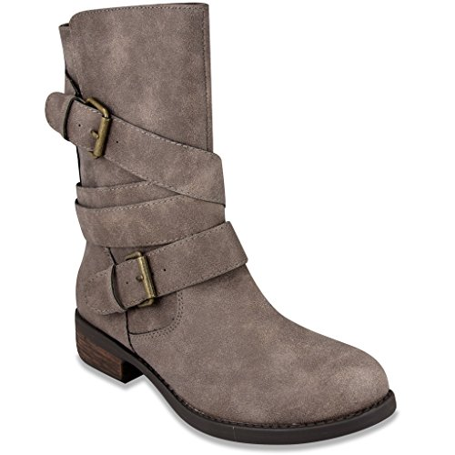 Rampage Womens ISLET Low Shaft Boot 8 Natural (Brown Boots With Ties compare prices)