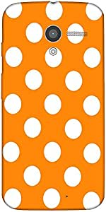 Snoogg Yellow Polka Dot Case Cover For Motorola X / Moto X 2Nd Generation