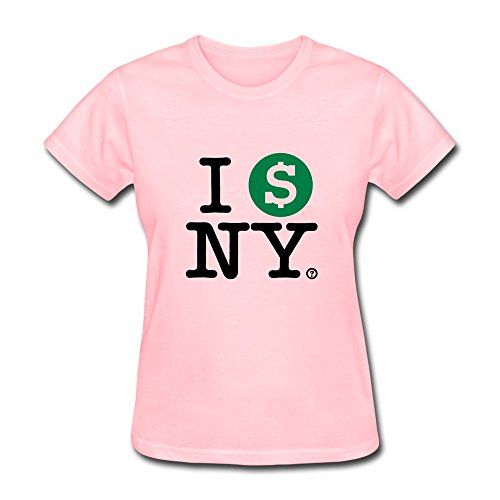 Fqy Women'S Ny Cotton Round Collar T Shirt L Pink