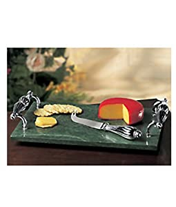 Marble Cheese Board and Knife By Godinger