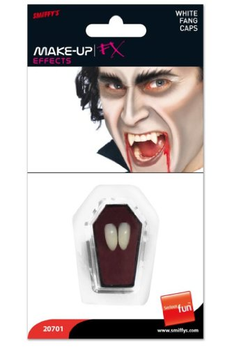 Smiffys Halloween White Vampire Teeth Fangs Tooth Caps - 1