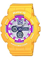 Casio BA-120-9BER - Women's Watch, Resin, Yellow Tone