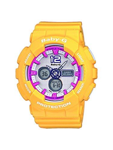 Casio BA-120-9BER - Reloj de pulsera mujer, resina, color amarillo