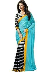 arthenterprise new Blue Bhaglapuri saree
