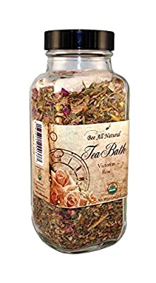 Bee All Natural Organic Tea Bath, Victorian Rose, 1-Ounce Jar
