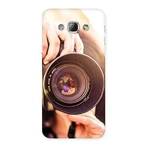 Enticing Premier Camera Multicolor Back Case Cover for Galaxy A8