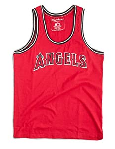Los Angeles Angels of Anaheim MLB Mens Bazooka Team Logo Tank Top by Wright & Ditson
