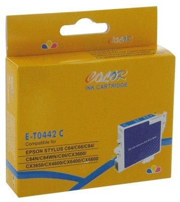CART COMP EPSON C64-C84 COULEUR Cyan recharge cyan compatible t0442 epson capacité standard: 480 ...